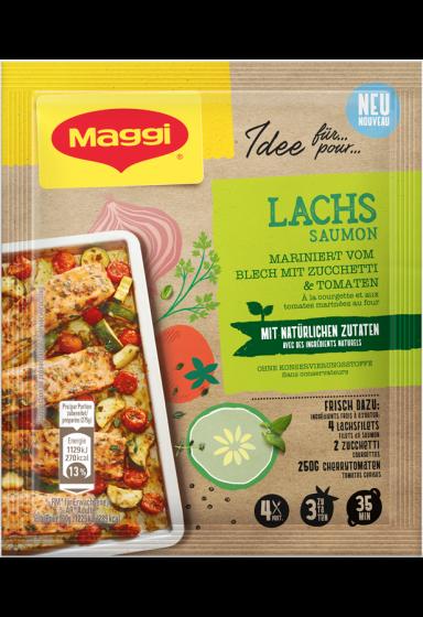 """""""MAGGI MIX NATÜRLICH - Lachs mariniert vom  Blech mit Zucchetti und Tomaten"""""""