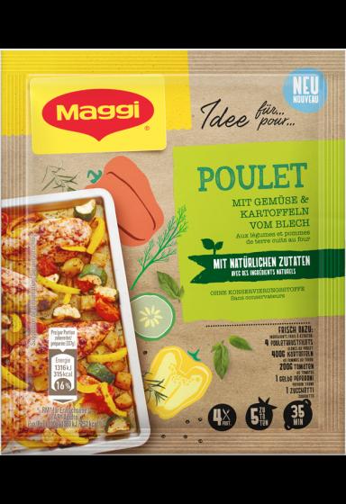 """""""MAGGI MIX NATÜRLICH - Poulet mit Gemüse  und Kartoffeln vom Blech"""""""